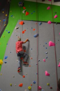 Rock-climbing recreational therapy activity